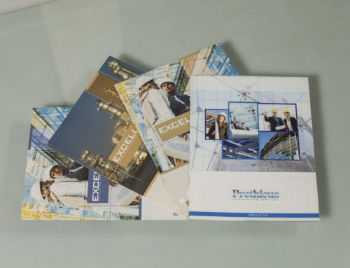 Brochures and marketing collateral designed and printed for Prothious