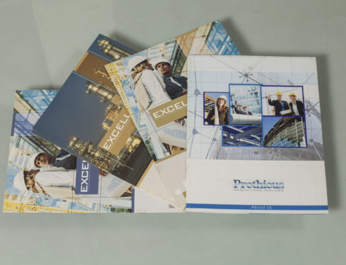 Brochures and Marketing Collaterals Designed and Printed for Prothious (USA)